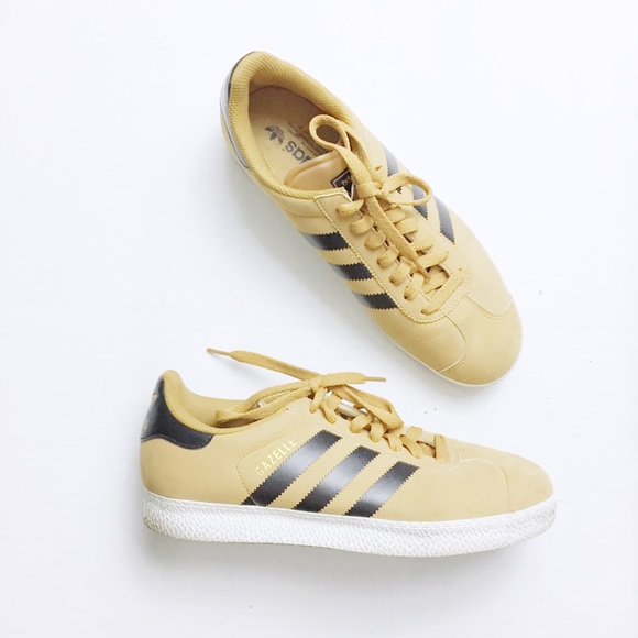 pretty nice 495e9 1a97a adidas Other - Adidas Gazelle Tan Tactile Yellow Suede Sneakers